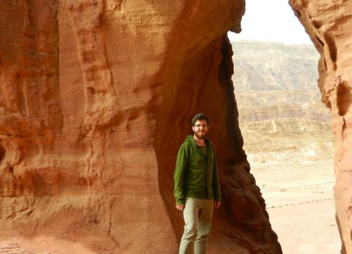 Posing at Solomon's Pillars
