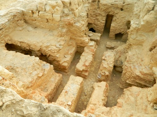 Roman bathhouse floor