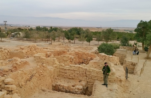 Yours truly exploring the ruins (photo Yehushua Lavy)