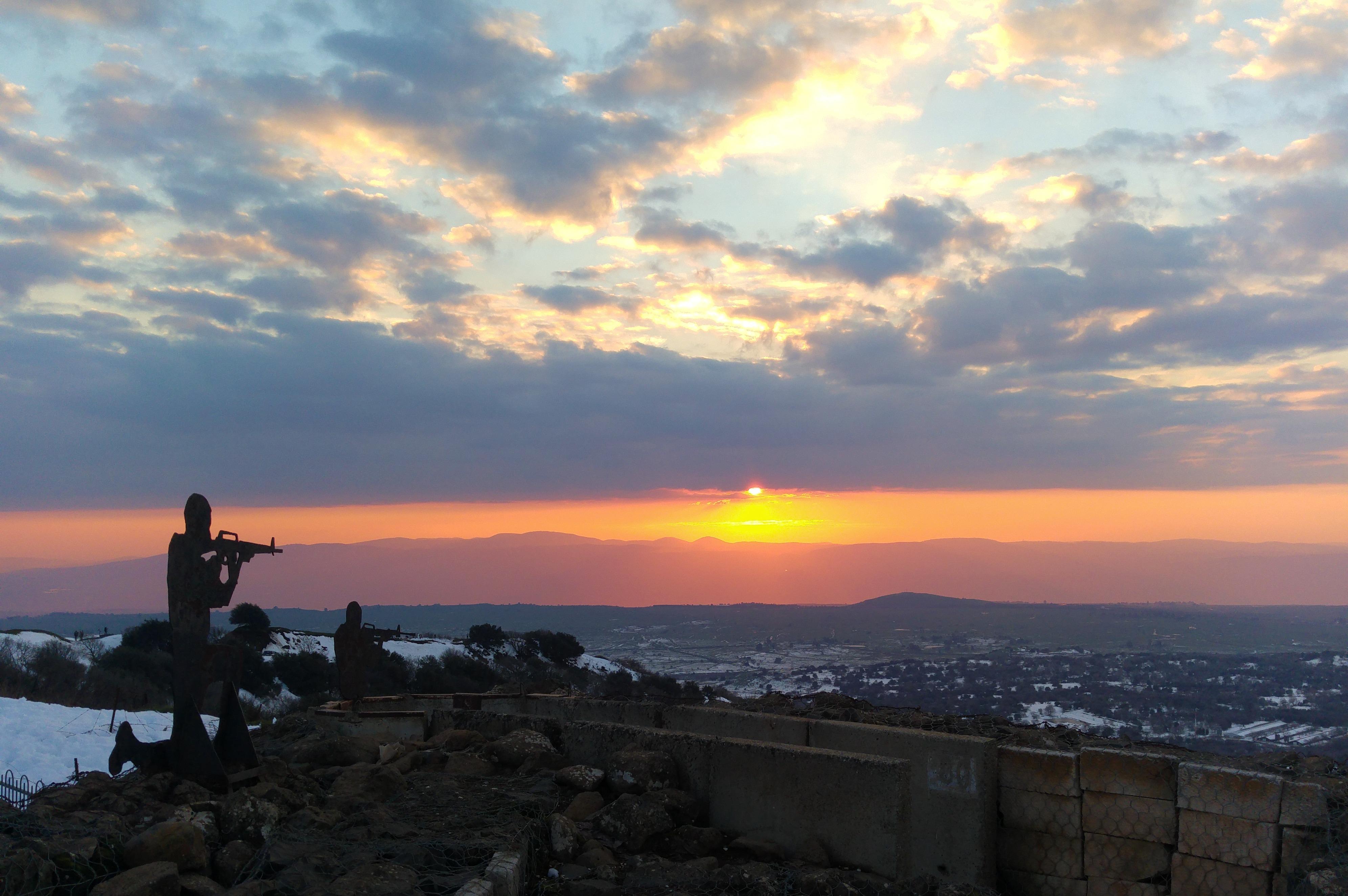 Sunset from Mount Bental's summit