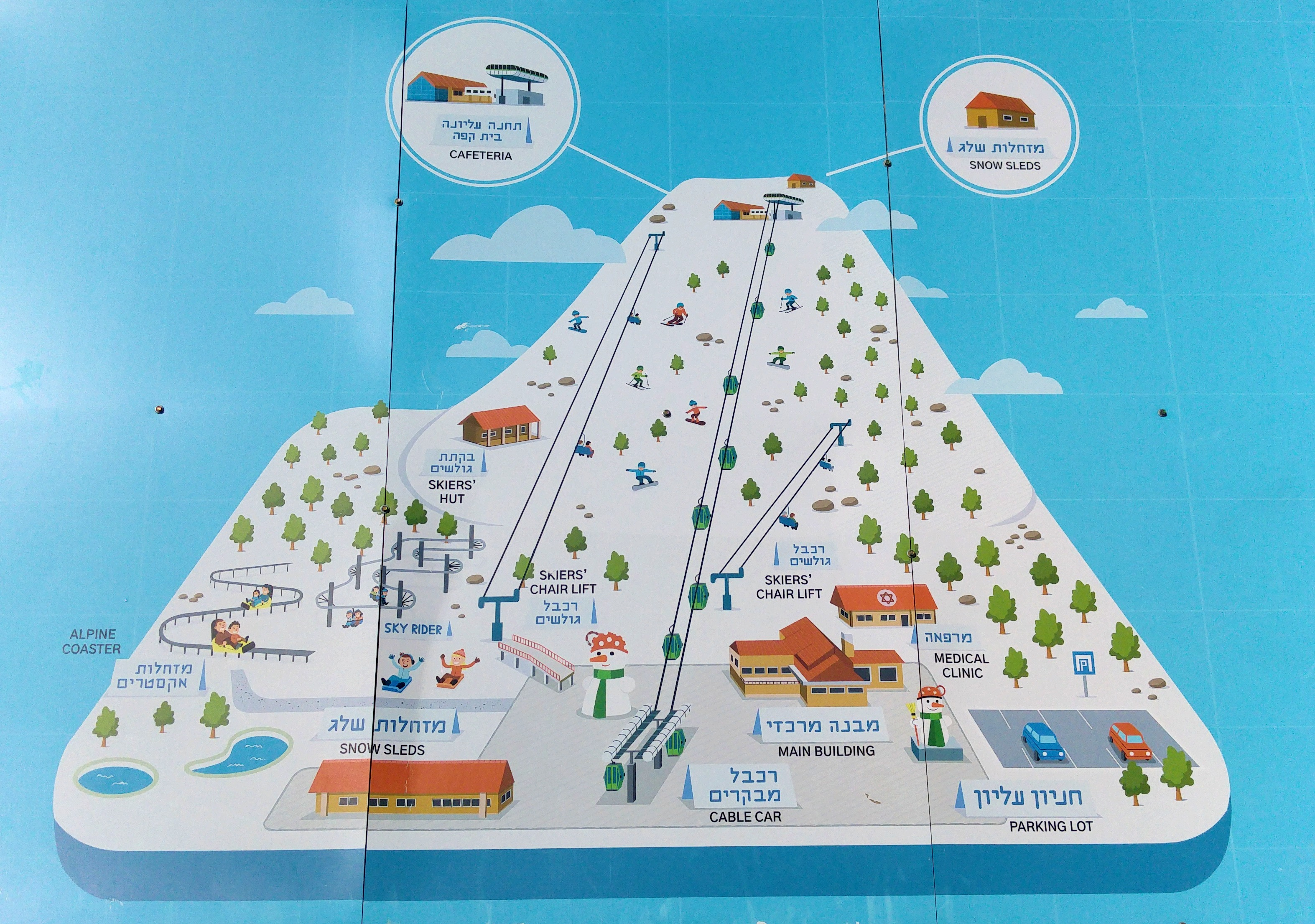 Map of the Mount Hermon park