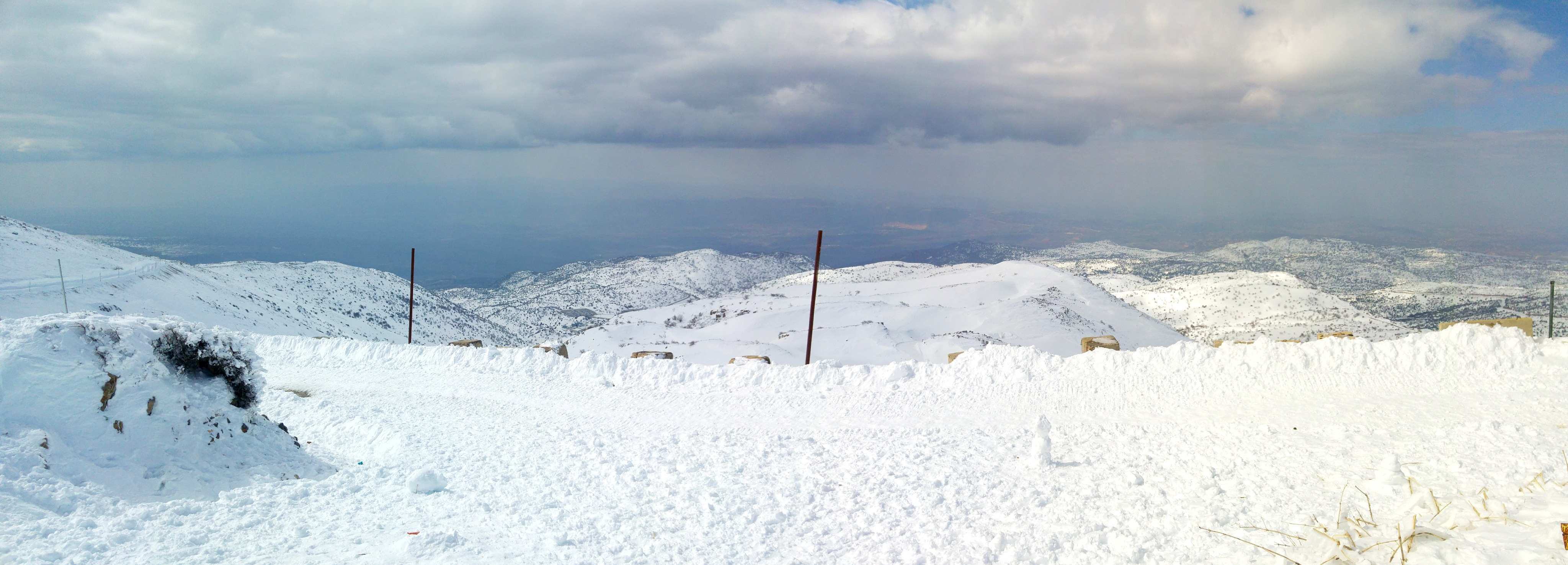 Panoramic looking west to the Golan and Upper Galilee