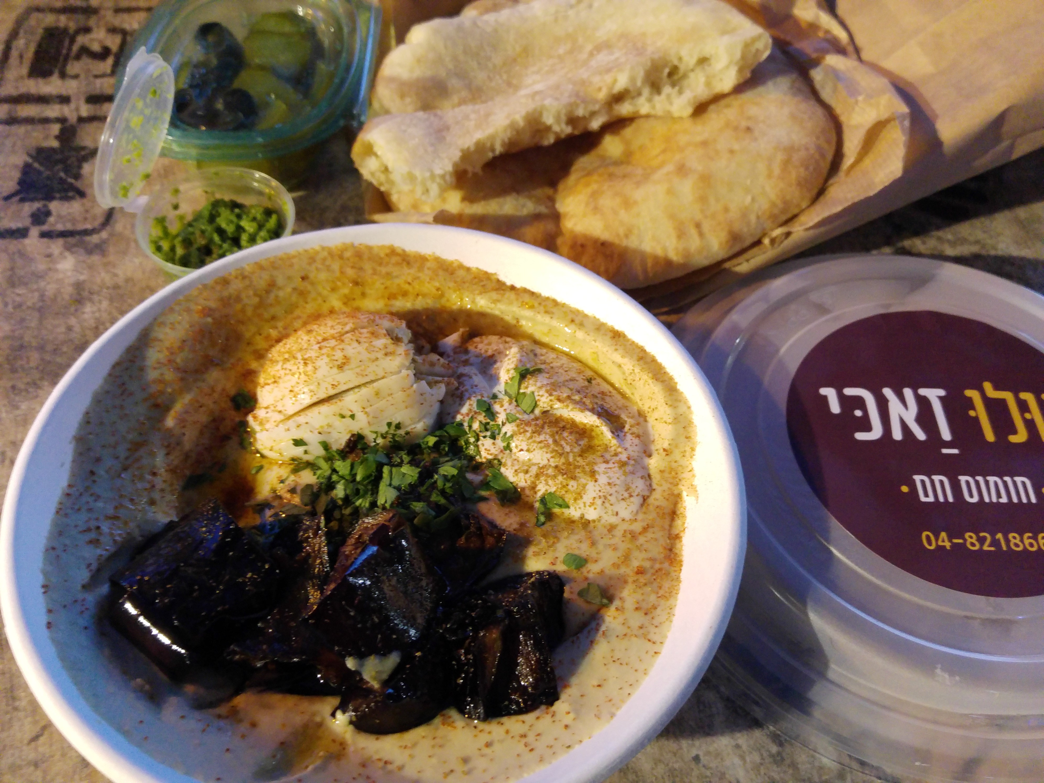 Tasty hummus in Qatsrin