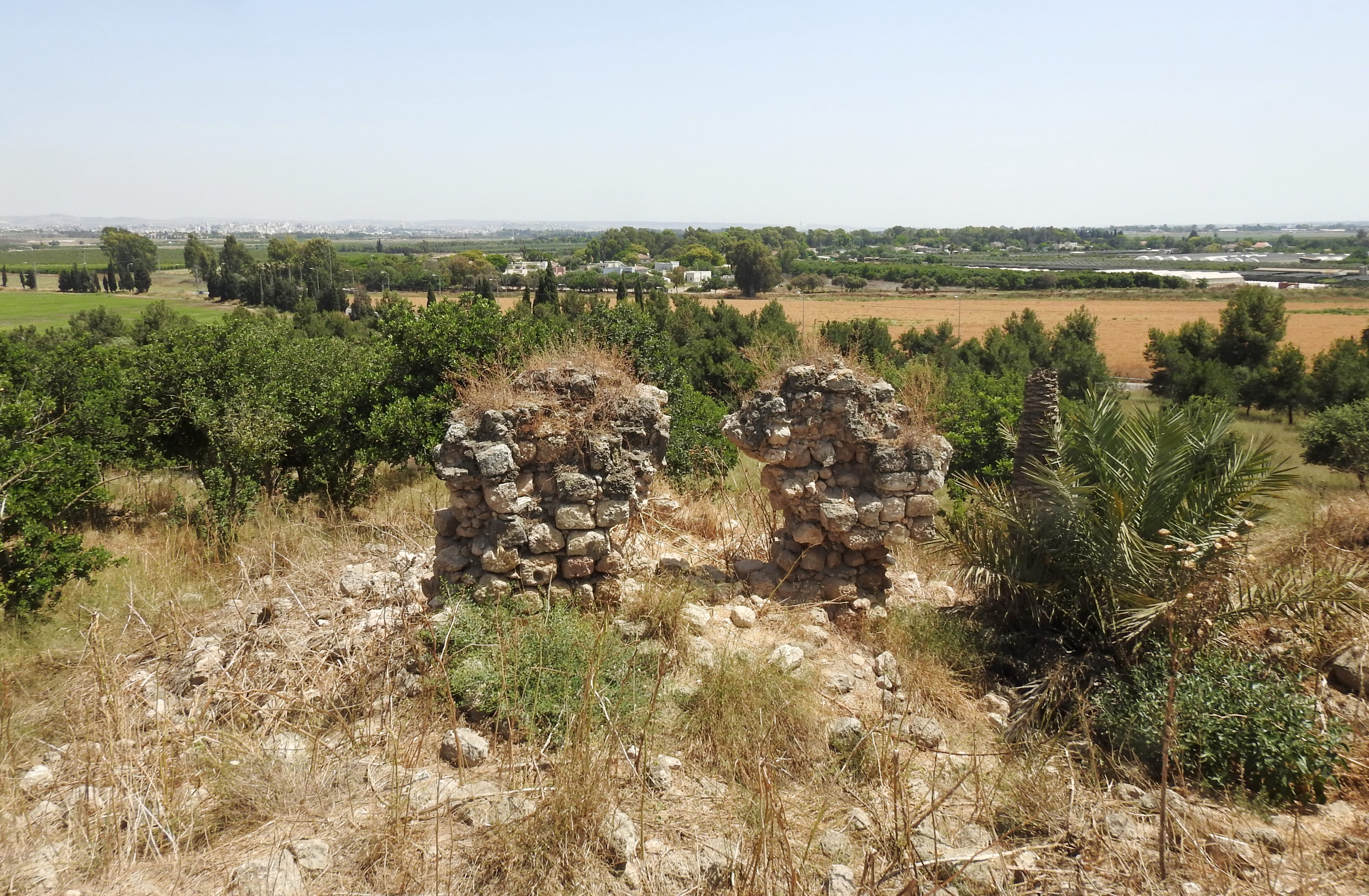 Remains of the fortress' outer walls