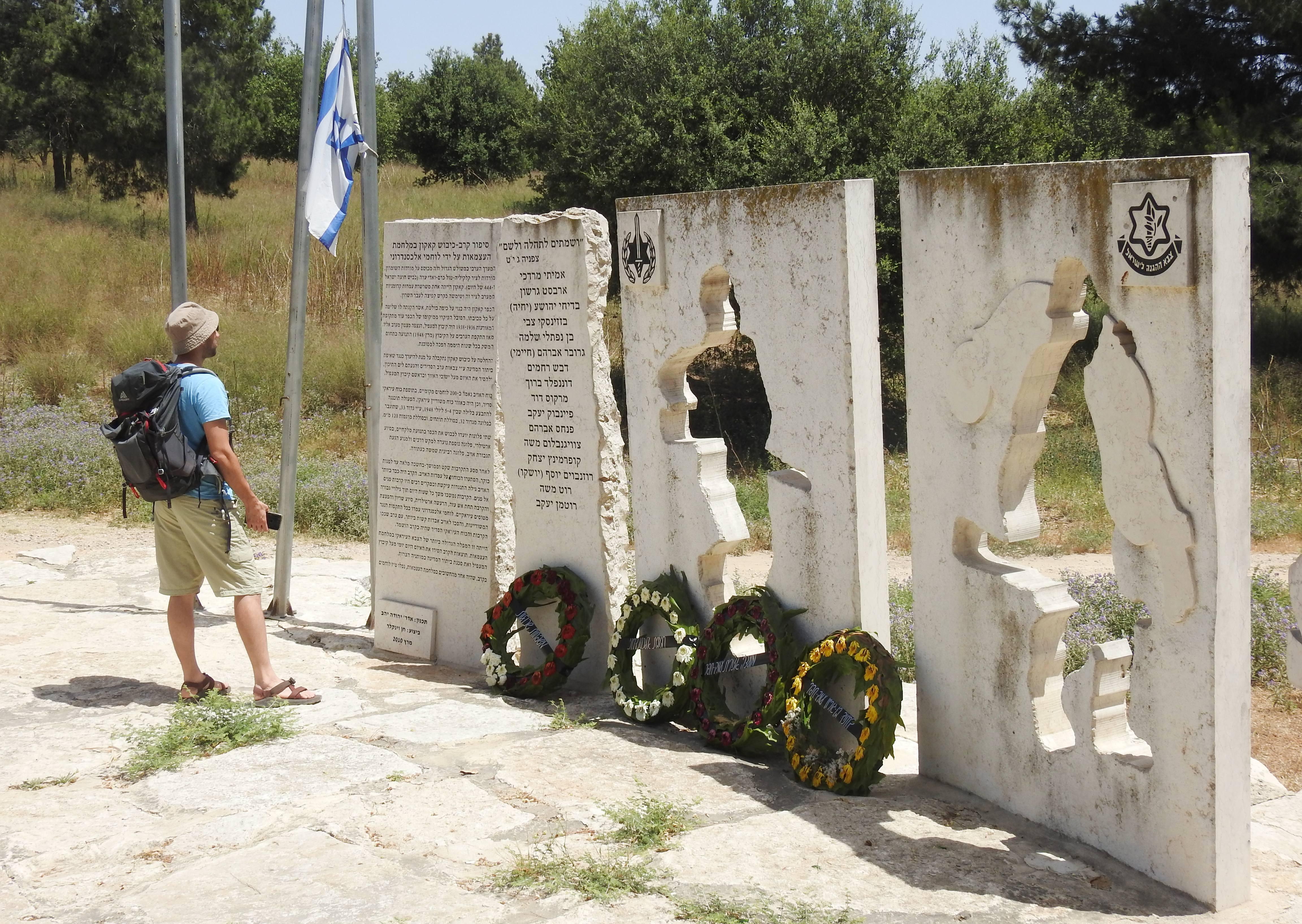 The Battle for Qaqun monument