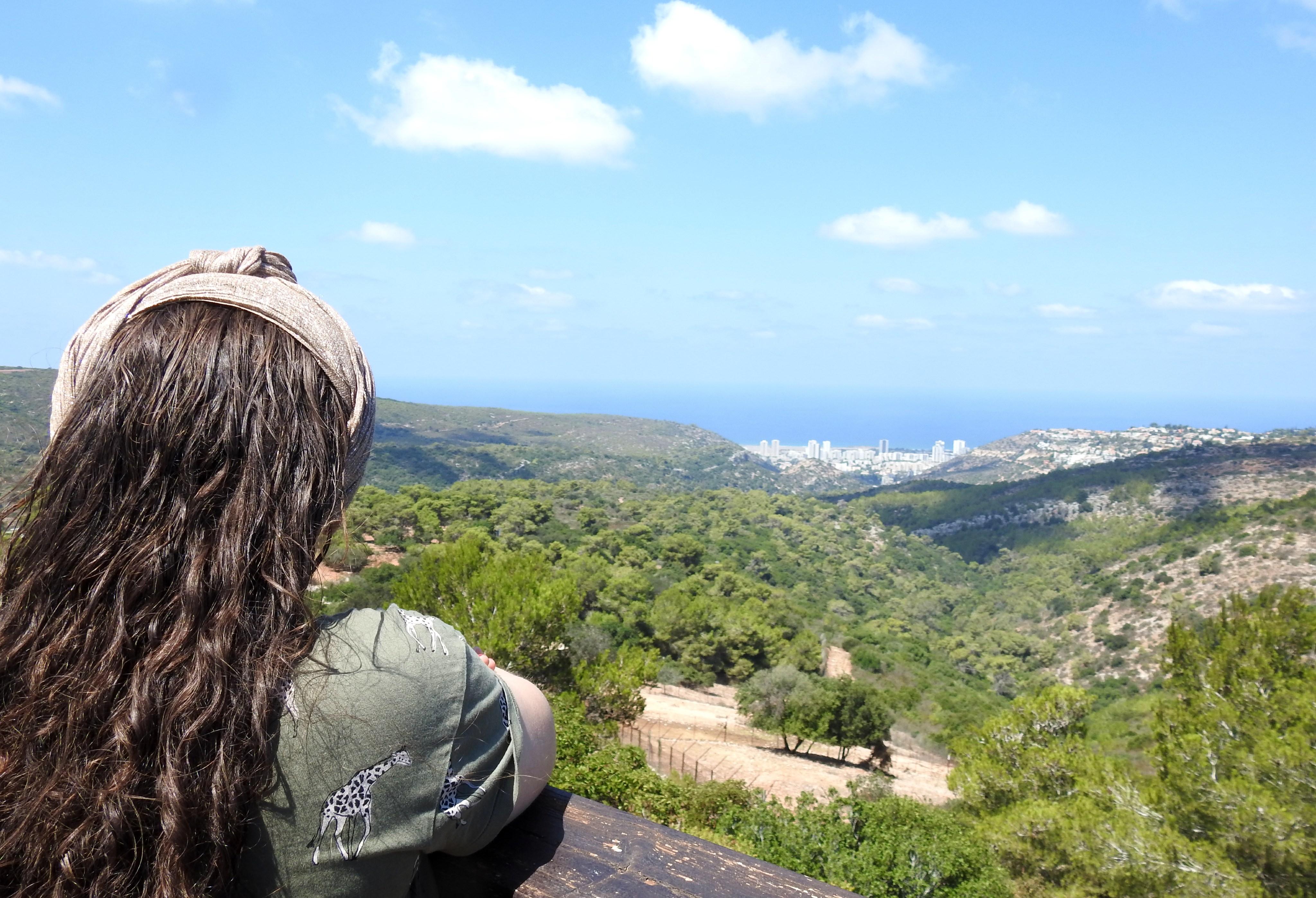 Bracha taking in the view